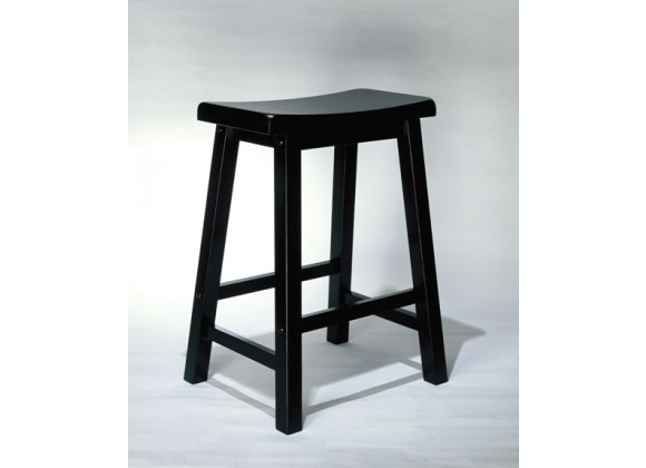 Powell Antique Black with Sand Through Terra Cotta Counter Stool 24 Seat Height