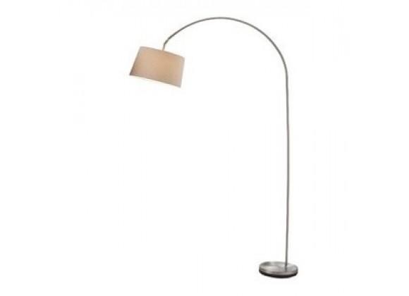 Adesso Goliath Arc Floor Lamp - Satin Steel