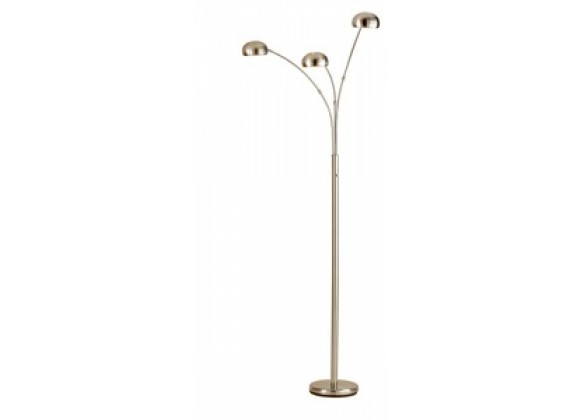 Adesso Domino 3 Adjustable Shades Arc Floor Light