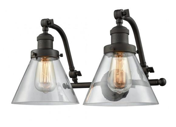 Double Swivel 2 Light Wall Bracket - CLEAR  GLASS