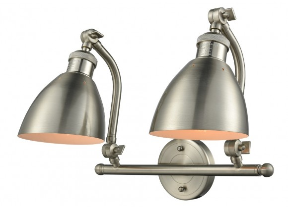 Metal Shade Double Swivel Vanity Light - METAL ANGLE SHADE