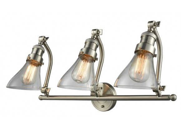 Angle Glass Double Swivel Vanity Light - CLEAR ANGLE GLASS
