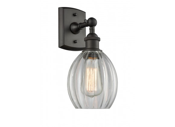 Glass Wall Sconce - Oiled Rubbed Bronze - Oiled Rubbed Bronze