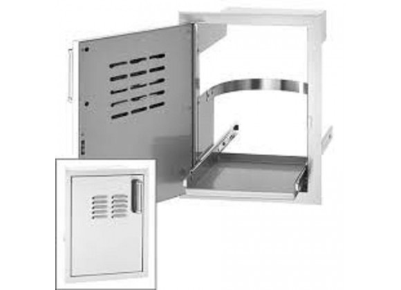 Fire Magic Single Access Door w/ Tank Tray and Louvers
