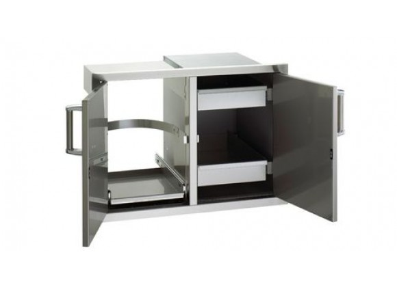 Fire Magic Double Access Door with Double Drawers and Tank Tray