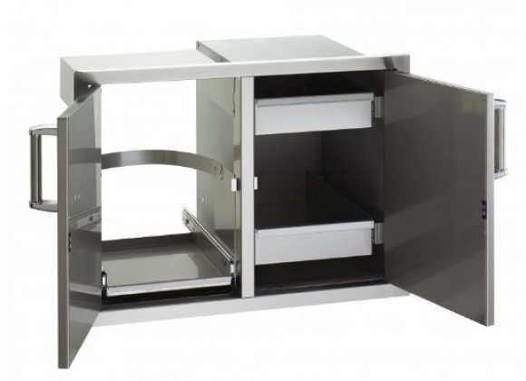 Fire Magic Double Door w/ Dual Drawers & Trash Tray