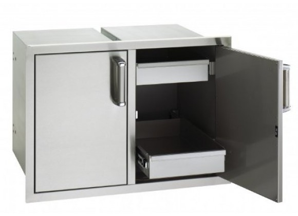 Fire Magic Double Access Doors / 2 Dual Drawers