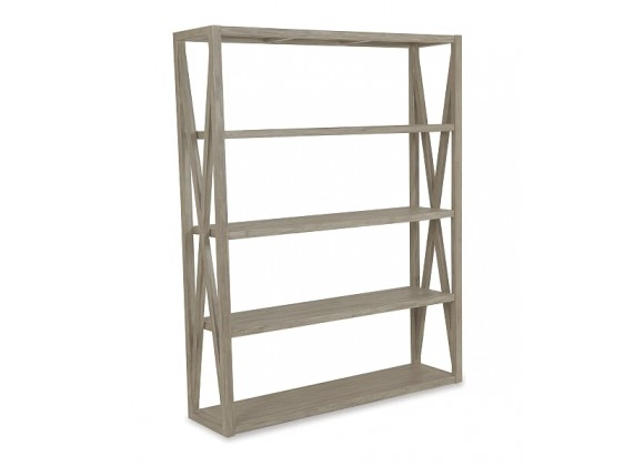 X Bookcase in Coastal Teak