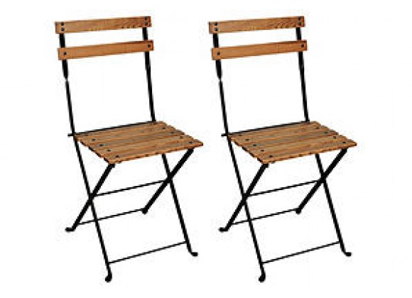 French Café Bistro Folding Side Chair
