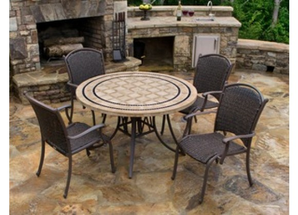 Tortuga Marquesas 5 PC Set with Stationary Arm Chairs