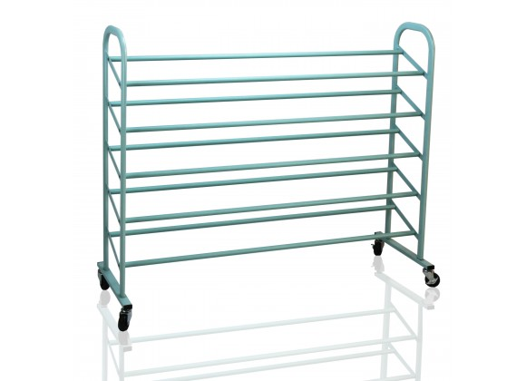 Oceanstar 5-Tier Metal Shoe Rack - Turquoise