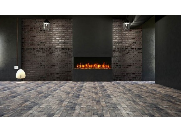 """Amantii 60"""" Unit - 10 5/8"""" In Depth 3 Sided Glass Fireplace - Lifestyle"""
