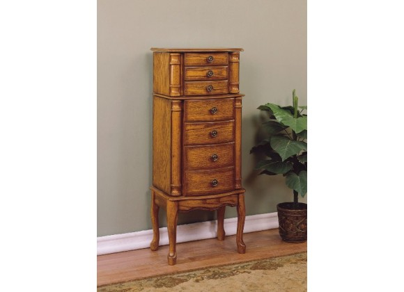 Powell Woodland Oak Jewelry Armoire