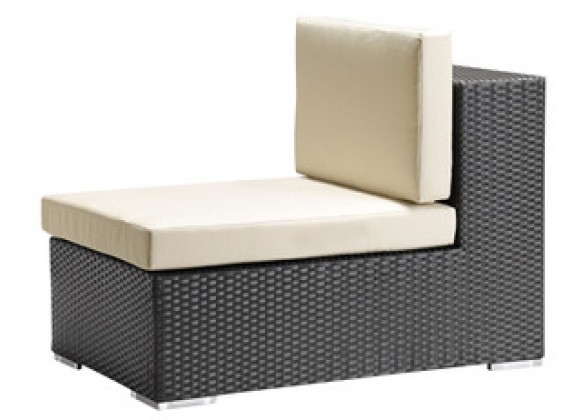 Zuo Modern Cartagena Middle in Espresso Weave and Beige Cushion