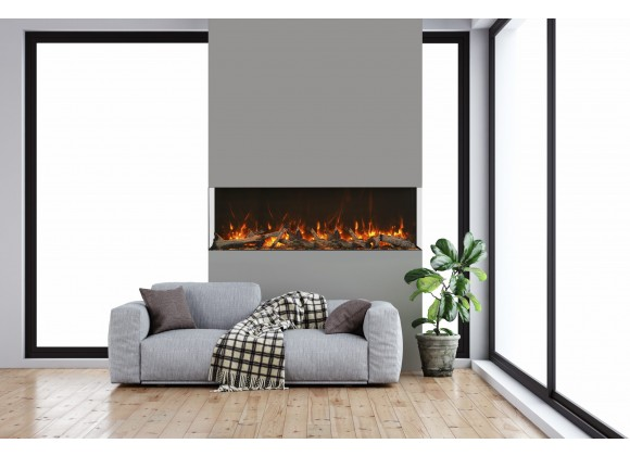 """Amantii 72"""" Unit - 14 1/4"""" In Depth 3 Sided Glass Fireplace"""