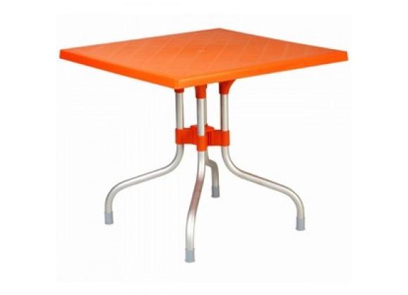 Forza Square Folding Table 31 inch Orange