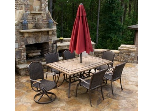 Tortuga Outdoor Marquesas 7pc set w/ 2 swivel rockers