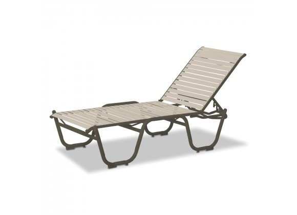 """Telescope Casual Reliance Contract Strap 16"""" High Four-Posiion Lay-flat Stacking Armless Chaise"""