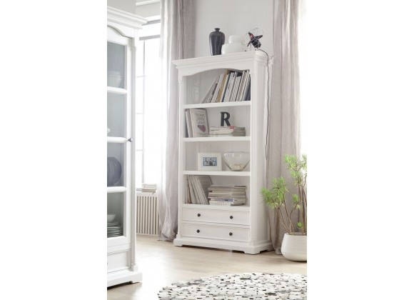Provence Bookcase With Two Drawers - Lifestyle