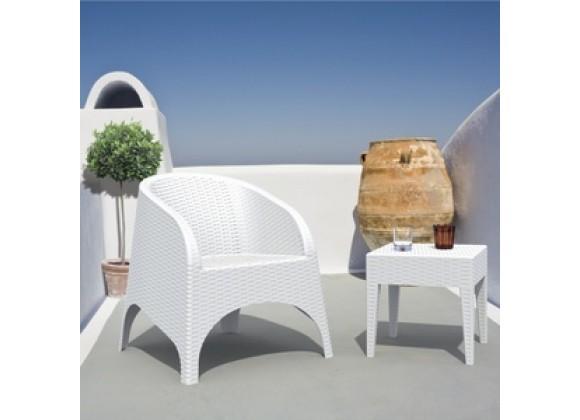 Miami Square Resin Side Table White
