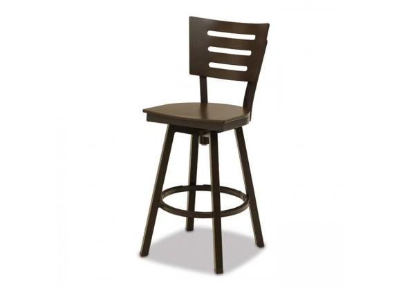 Telescope Casual Avant MGP Aluminum Balcony Height Swivel Chair - Set of 2