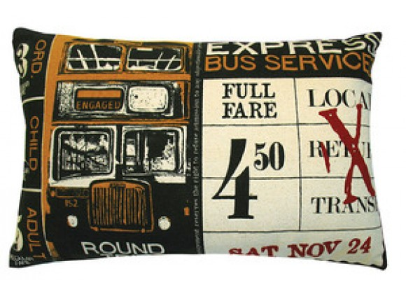 Koko Company Ticket Pillow in Blue