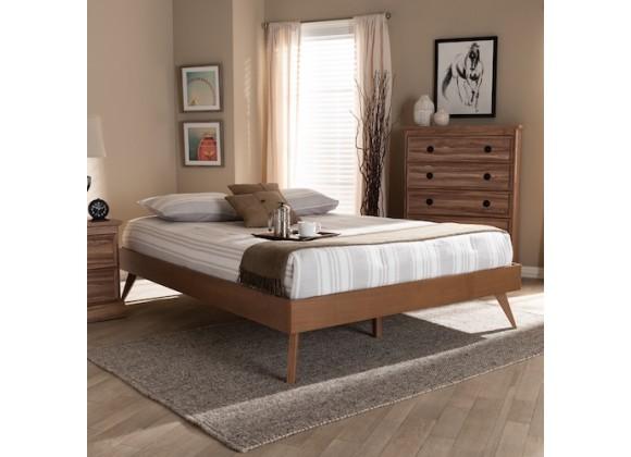 Baxton Studio Lissette Wood Platform Bed Frame