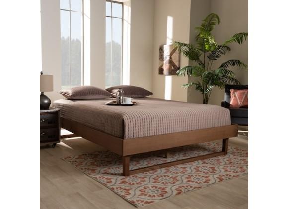 Baxton Studio Liliya Wood Platform Bed Frame