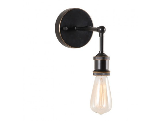 Zuo Modern Miserite Wall Lamp Antique Black Gold & Copper