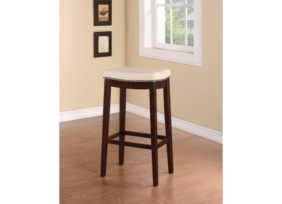 Linon Allure Stool Fabric with Cushion Seat