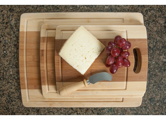 Organic Bamboo Cutting Board 3PC Set