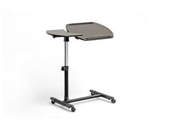 Baxton Studio Olsen Brown Wheeled Laptop Tray Table