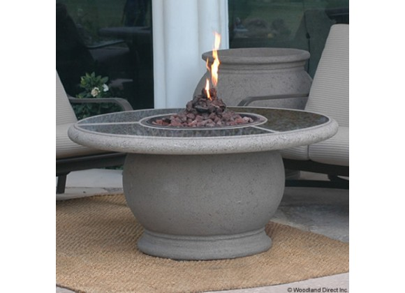 American Fyre Designs Amphora Firetable With Granite Inset
