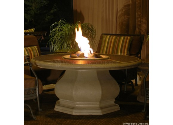 American Fyre Designs Chat Height Octagon Firetable With Granite Inset