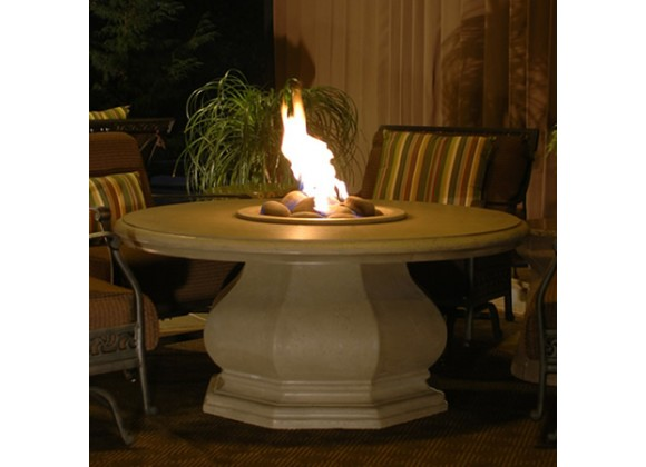 American Fyre Designs Chat Height Octagon Firetable W/ Concrete Top