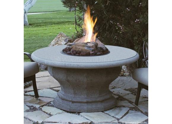 American Fyre Designs Inverted Firetable W/ Concrete Top