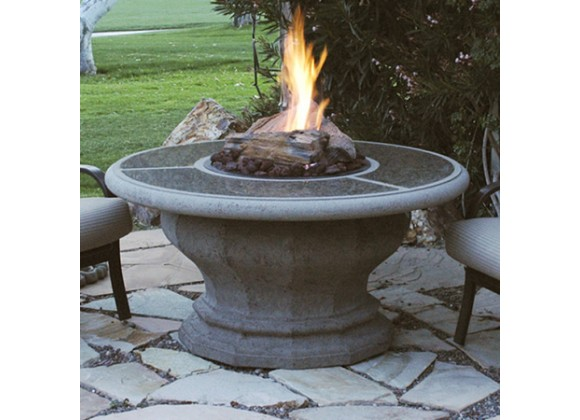 American Fyre Designs Inverted Firetable With Granite Inset