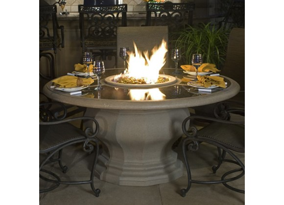 American Fyre Designs Inverted Dining Firetable With Granite Inset