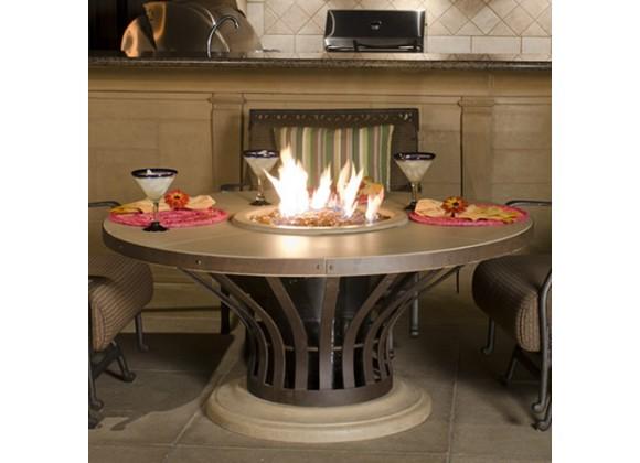 American Fyre Designs Cosmopolitan Square Dining Firetable