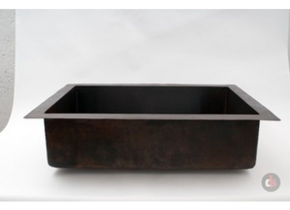 Ambiente 33-Inch Copper Handmade Kitchen Drop-in Single Well Plain Sink