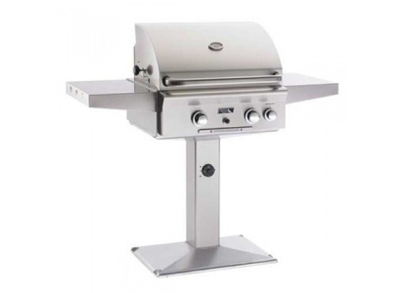 """American Outdoor Grill 24"""" Patio Post Gas Grill"""