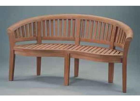 Anderson Teak Curve 3-Seater Bench Extra Thick Wood