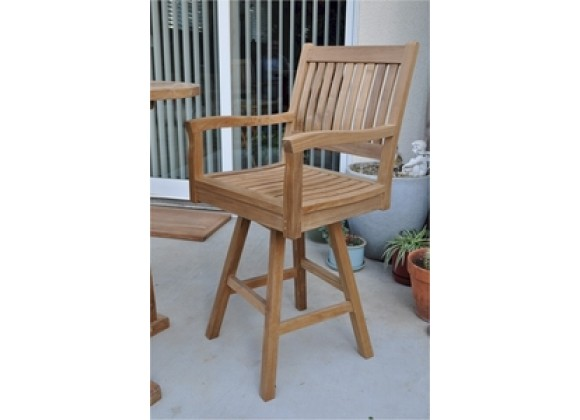 Anderson Teak Rialto Swivel Bar Arm Chair