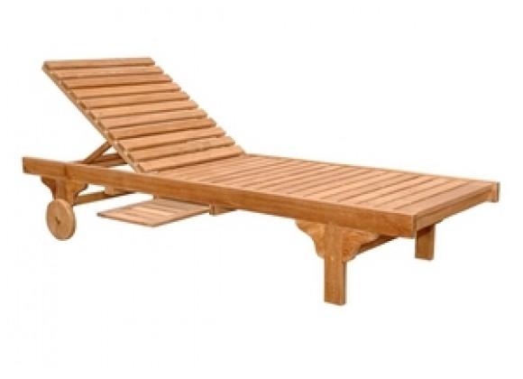 Anderson Teak Capri Sun Lounger Adjusted Back & Side Tray