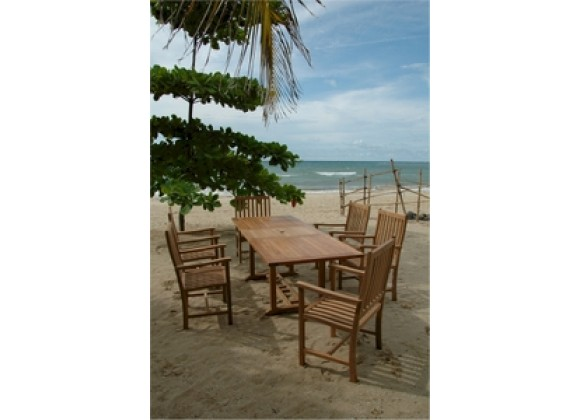 Anderson Teak Rectangular Extension Table and Wilshire Dining Armchair
