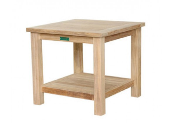 Anderson Teak Bahama 22-inch Square 2-Tier Side Table