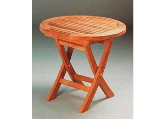 Anderson Teak Bahama 20-inch Mini Side Round Folding Table