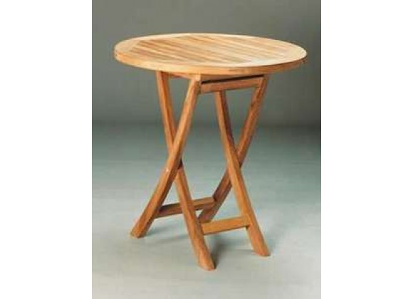 Anderson Teak Bahama 27-inch Round Bistro Folding Table
