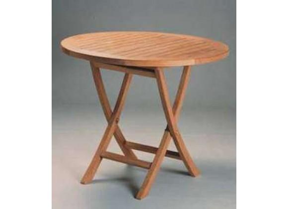 Anderson Teak Bahama 35-inch Round Bistro Folding Table