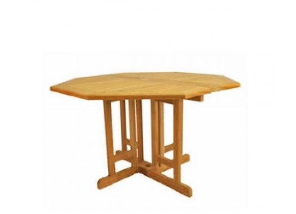 "Anderson Teak Butterfly 47"" Octagonal Folding Table"